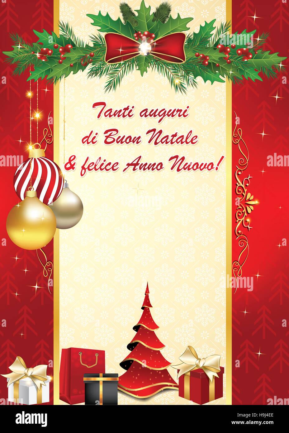 Auguri Di Buon Natale E Buon Anno.Tanti Auguri Di Buon Natale E Felice Anno Nuovo Biglietto D