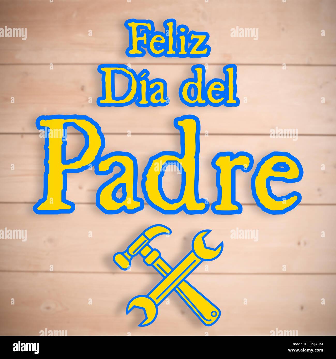 Imagen compuesta de herramientas y Feliz Dia del padre Imagen De Stock