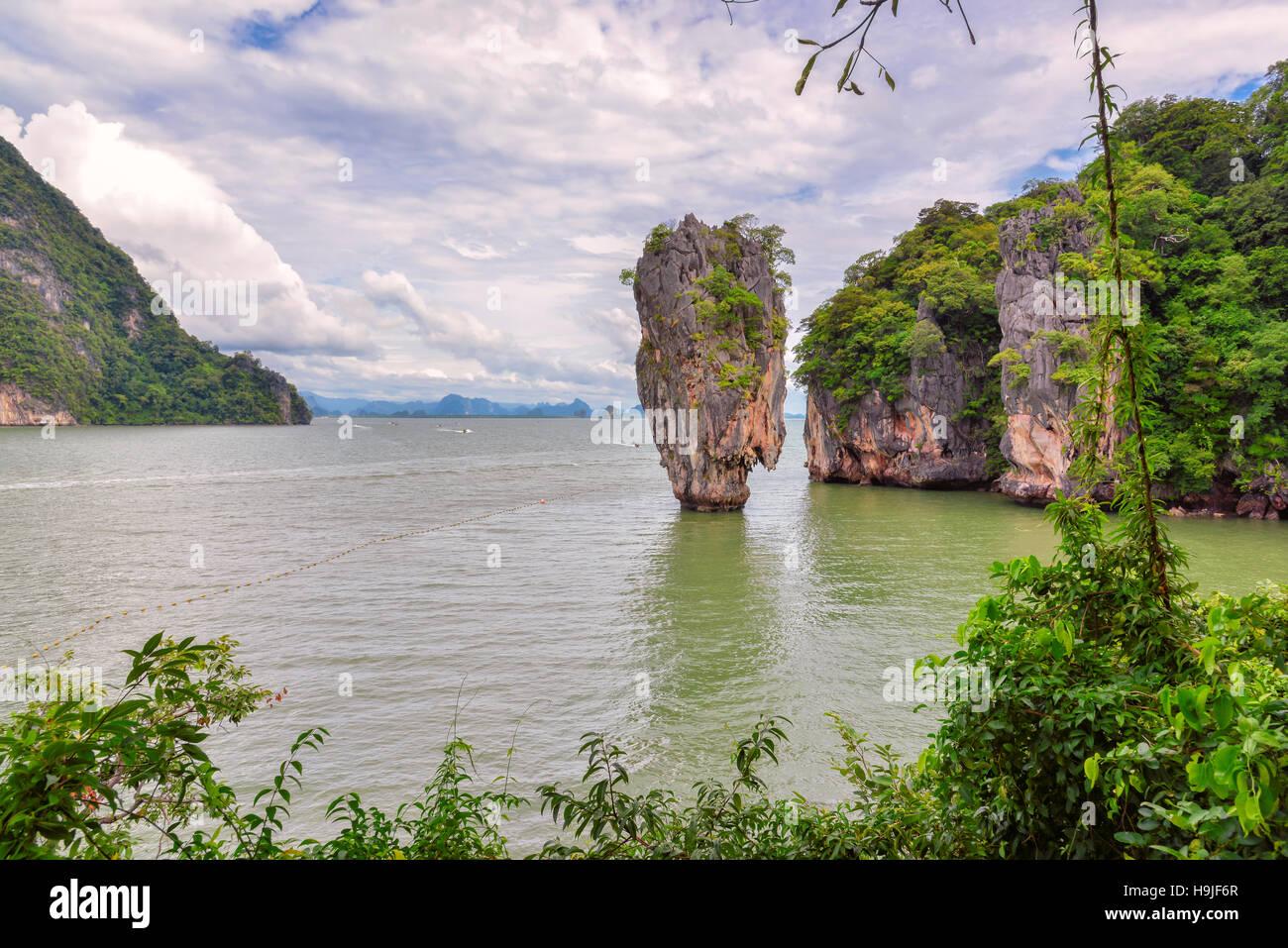 La isla de James Bond en Tailandia (ko tapu) Foto de stock