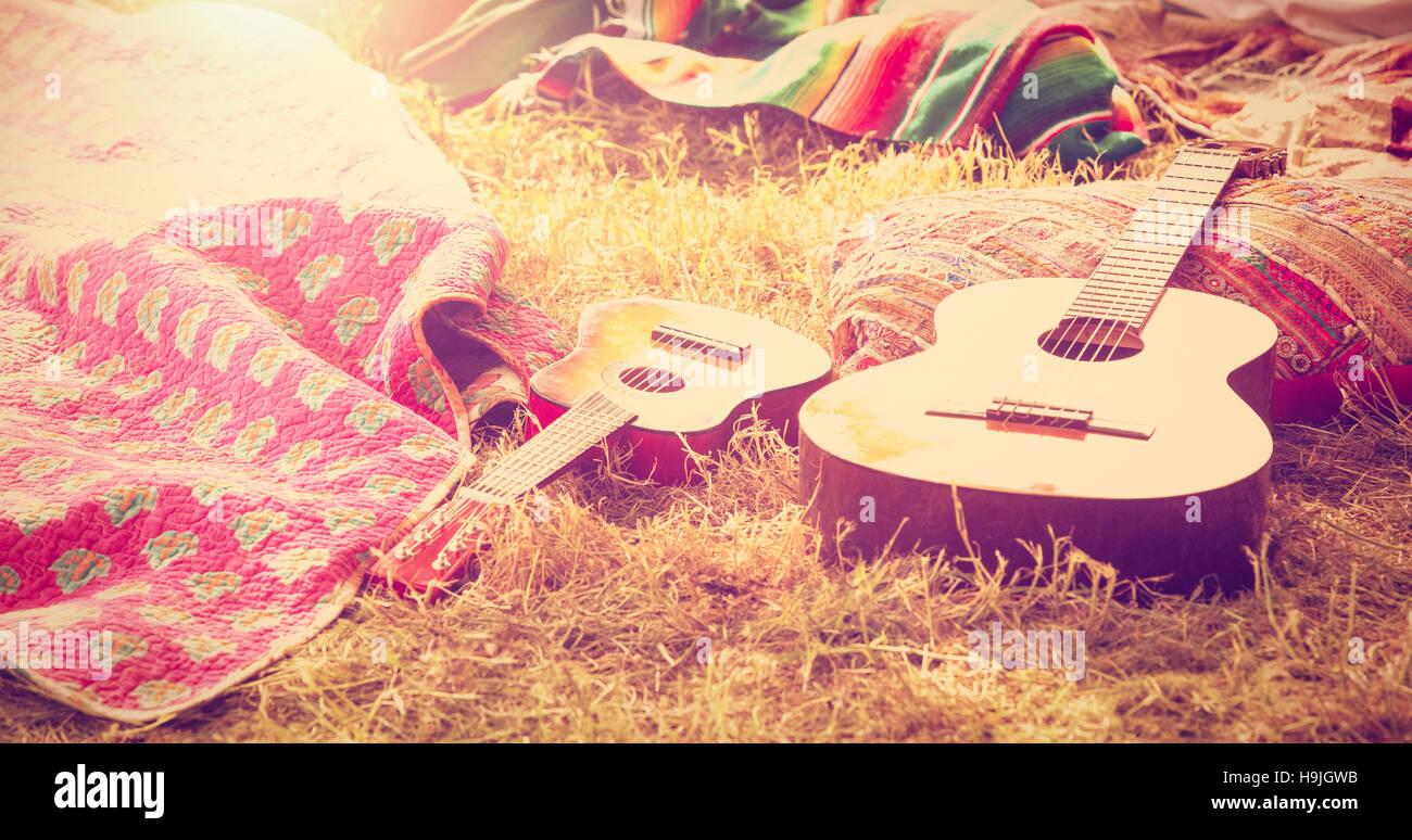 Festival de Música de cámping en vacío Imagen De Stock