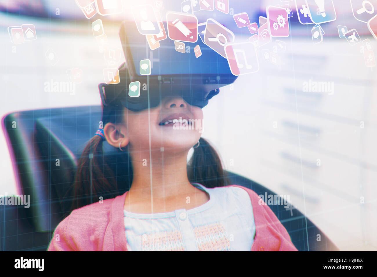 Imagen compuesta de coloridas aplicaciones informáticas Imagen De Stock