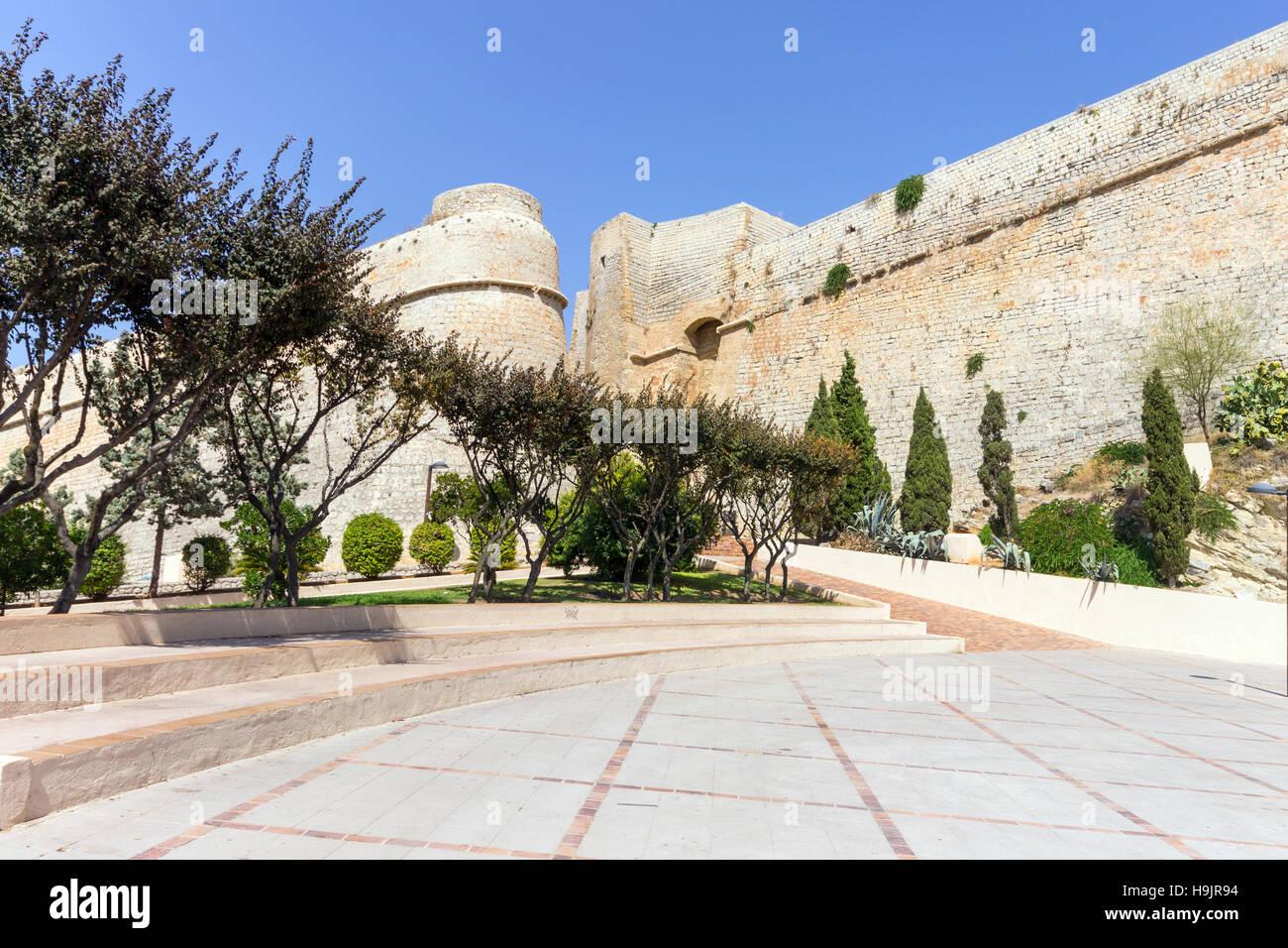 En España, las Islas Baleares, Ibiza, eivissa, el Parque Reina Sofía Imagen De Stock