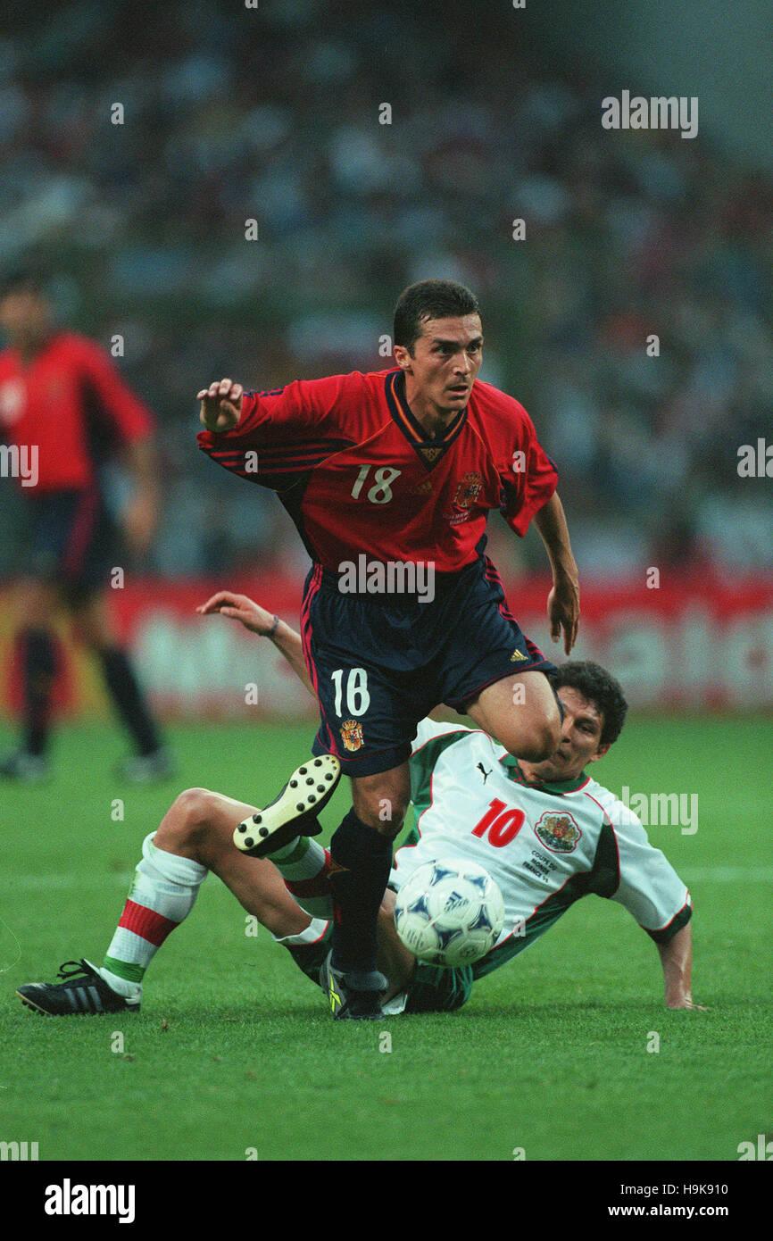 GUILLERMO AMOR & BALAKOV España contra Bulgaria el 29 de junio de 1998 Imagen De Stock