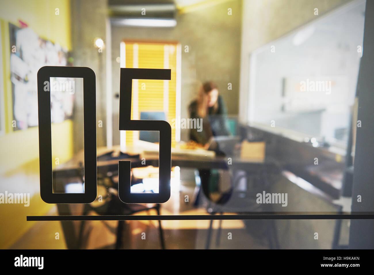 Oficina moderna, espacio interior Imagen De Stock