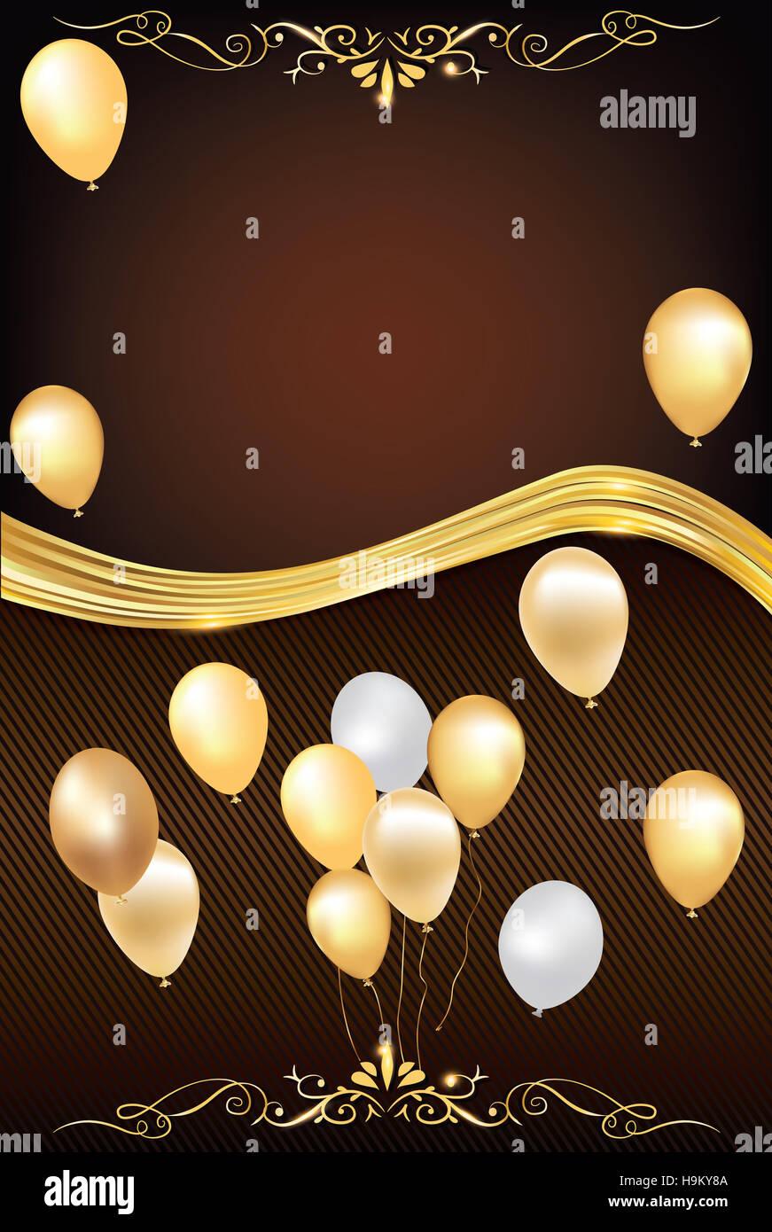 Celebración Del Fondo Con Globos Para Cualquier Ocasión