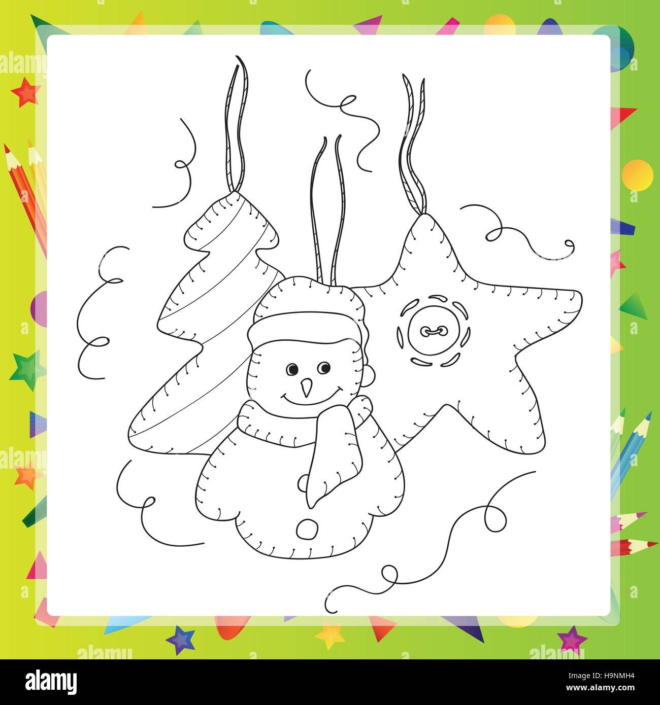 Libro para colorear o página, ilustración. Concepto de tarjeta ...