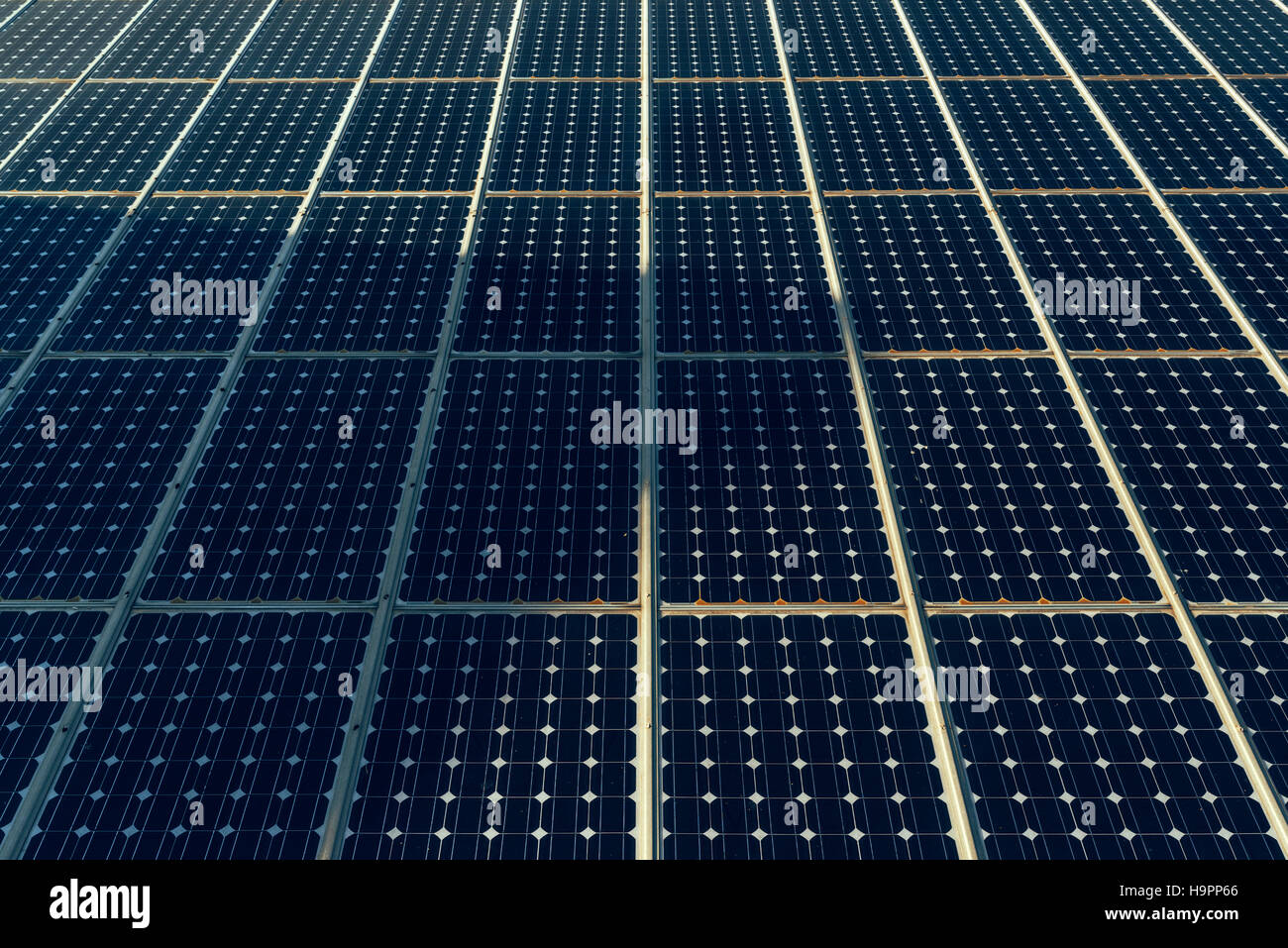 Superficie de paneles solares Imagen De Stock