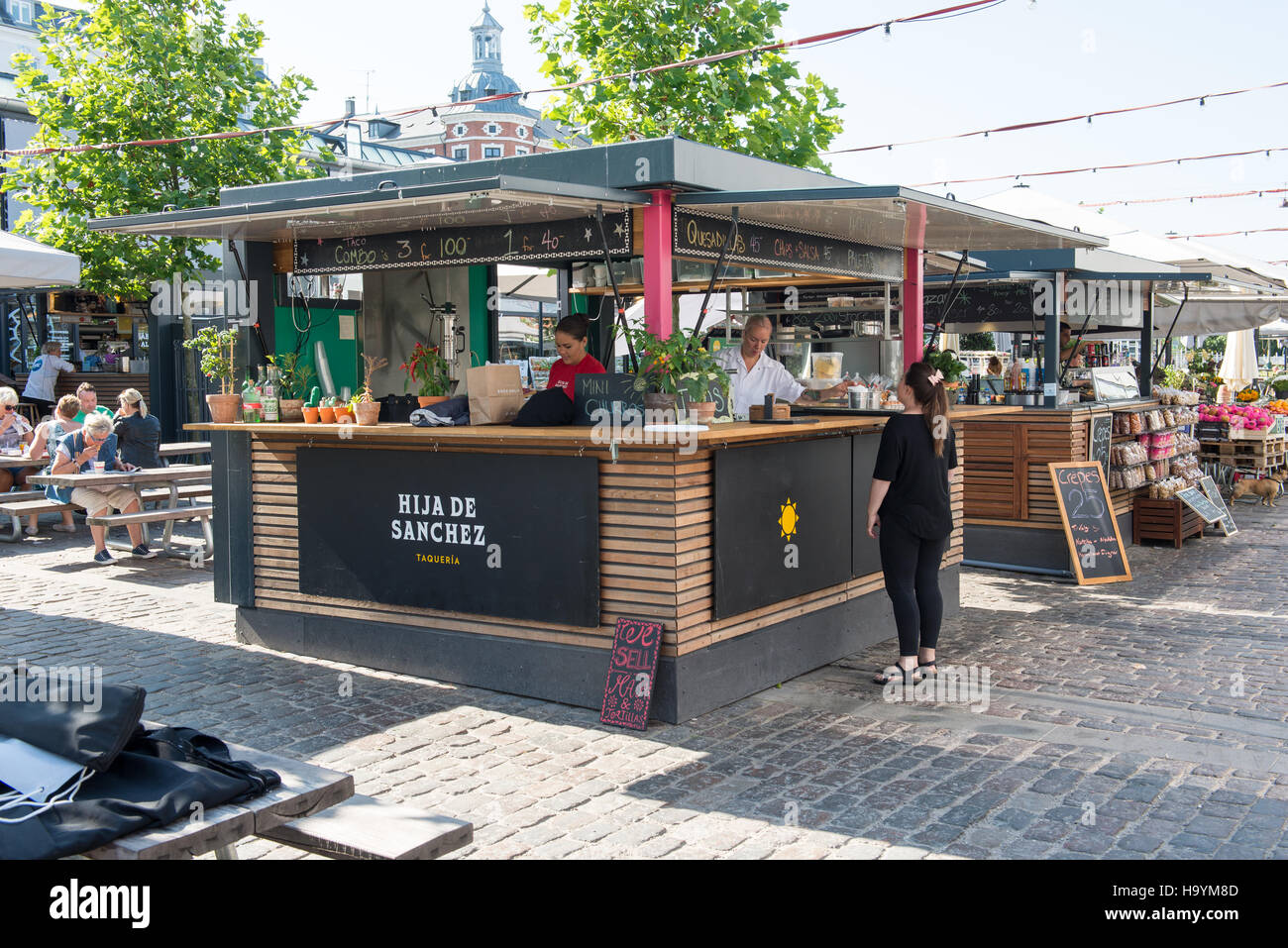 Hijas de sanchez Restaurante como parte de torvehallerne en Copenhague, Dinamarca Imagen De Stock