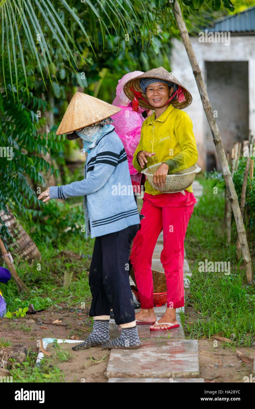 Mi Hung, un pueblo agrícola, Río Mekong, Vietnam, Asia Imagen De Stock