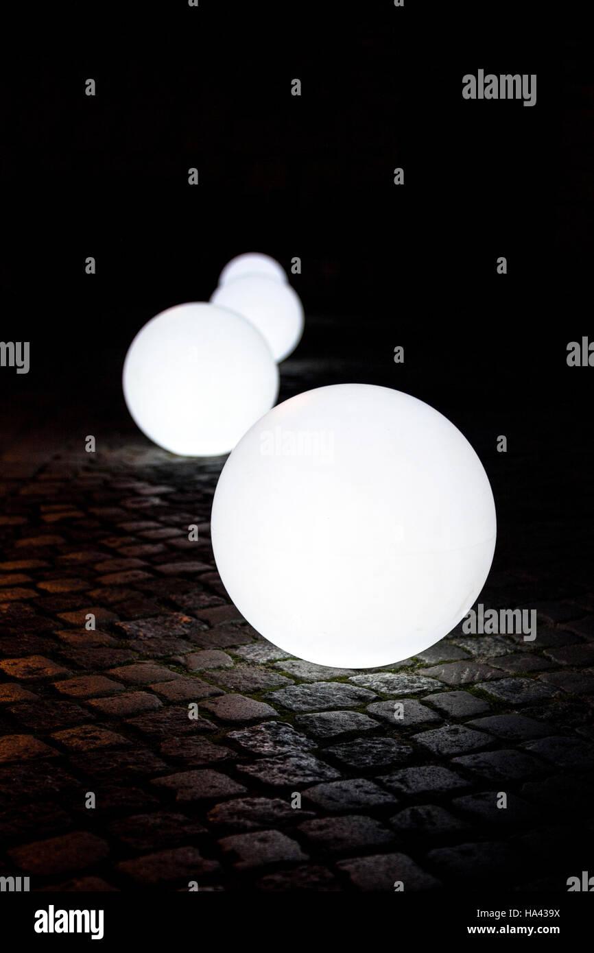 Luz orb en una calle de Gdansk, Polonia Imagen De Stock