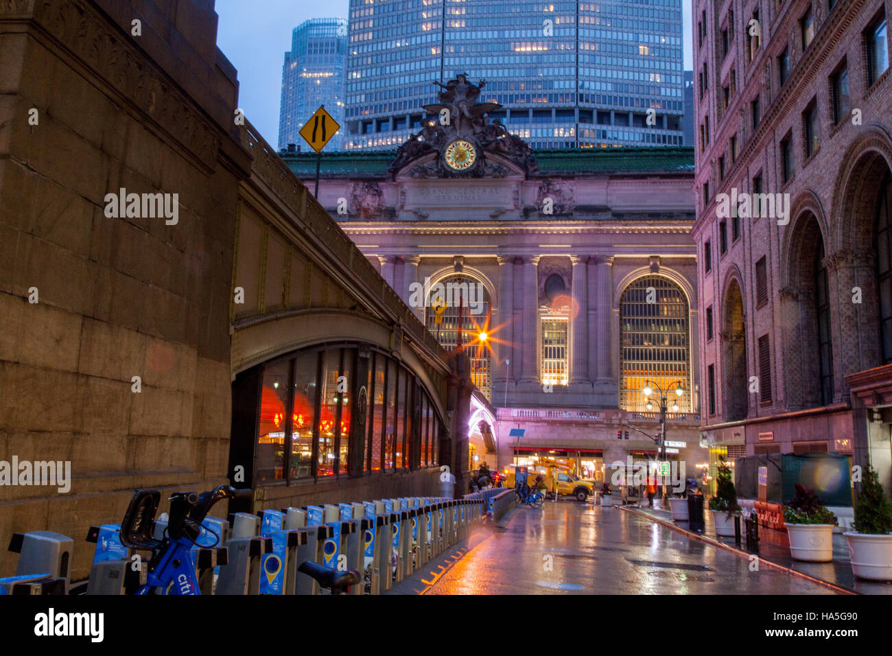 La estación Grand Central exterior 42nd Street, Nueva York, Estados Unidos de América. Imagen De Stock