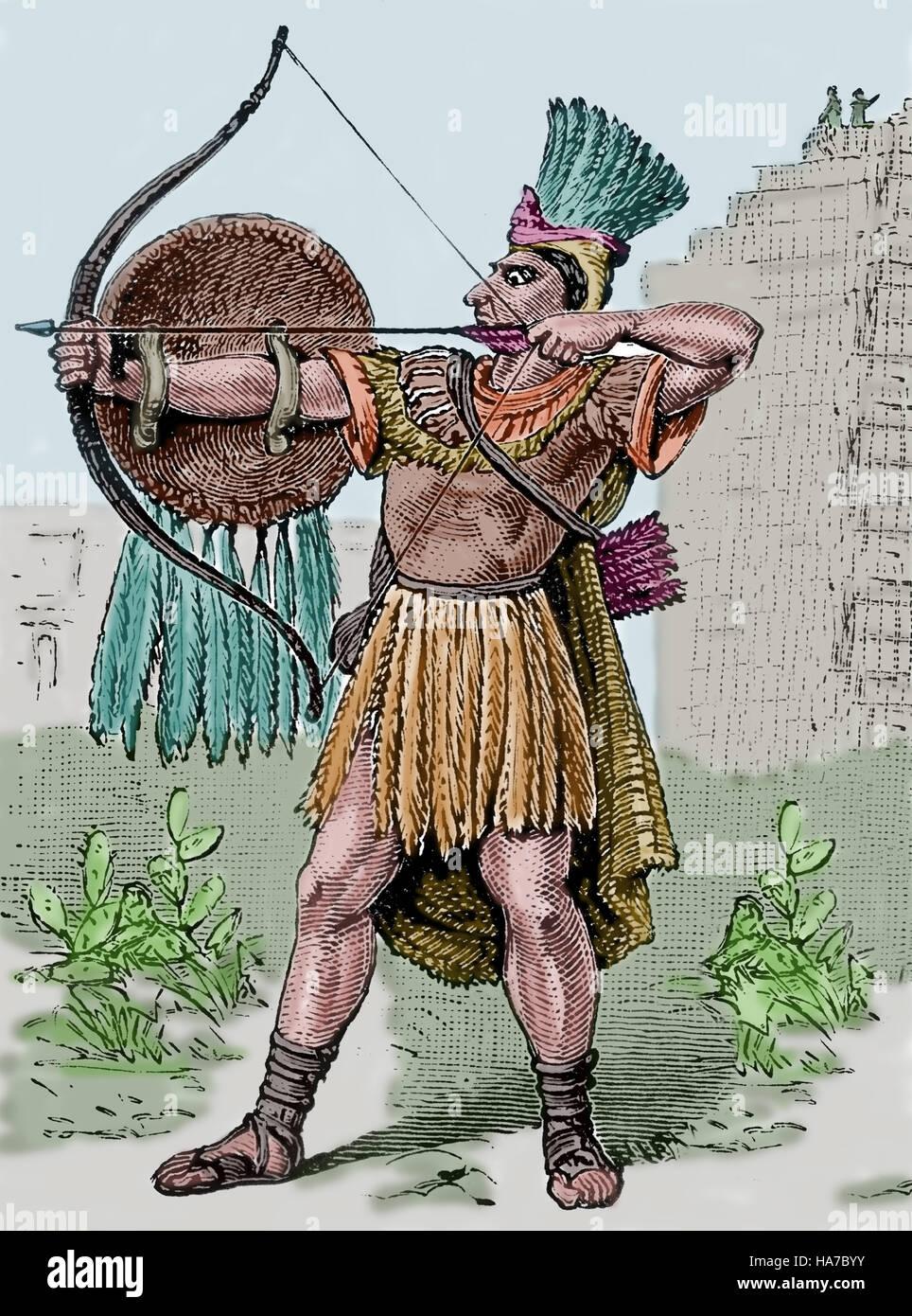 Mesoamérica México Guerrero Azteca 14th 16th Siglo Grabado