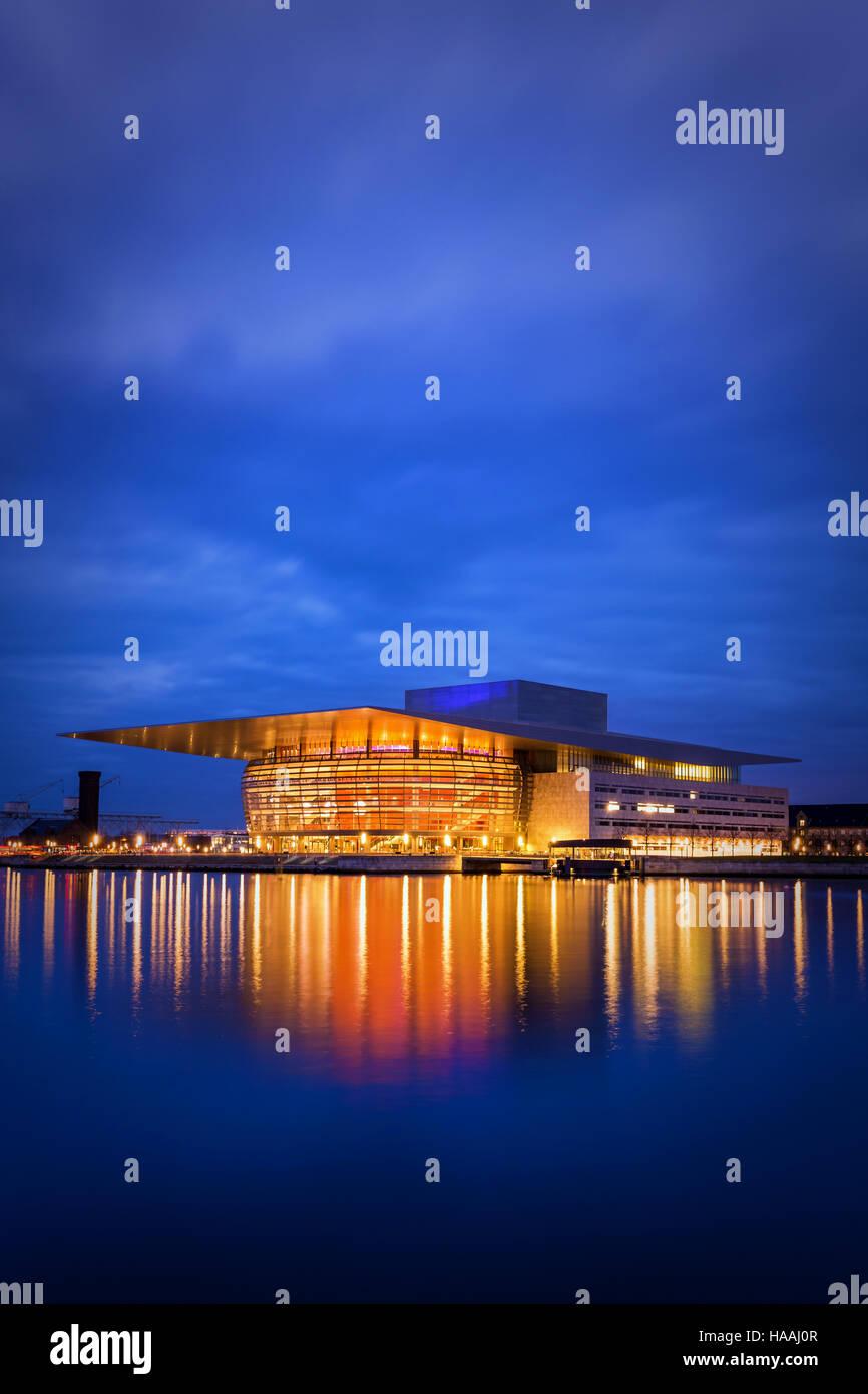Ópera de Copenhague, Copenhague, Dinamarca Foto de stock