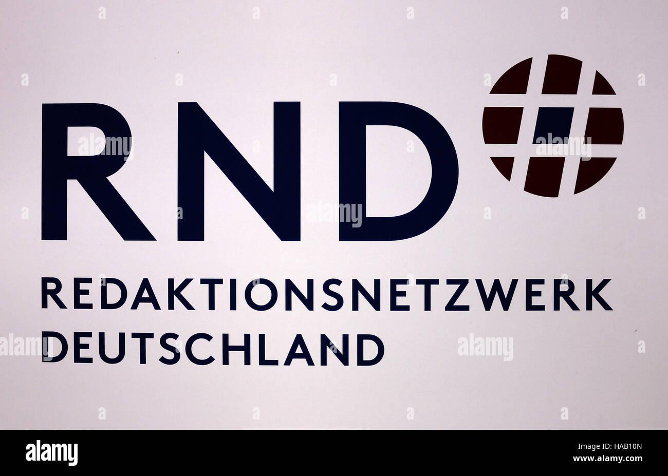 """Logo das der Marke """"RND Redaktionsnetzwerk Deutschland"""", Berlín. Foto de stock"""