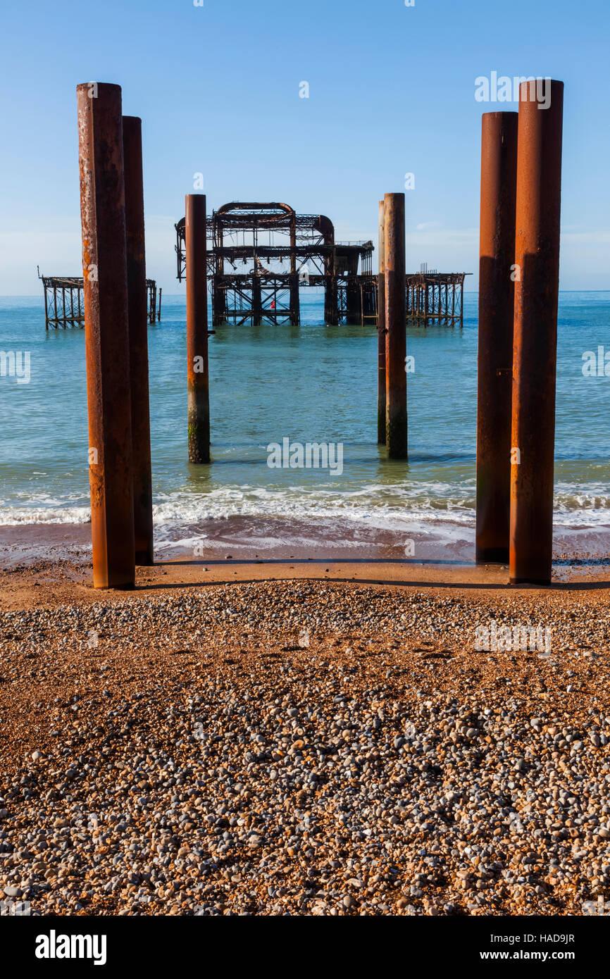 Inglaterra, East Sussex, Brighton, West Pier Foto de stock