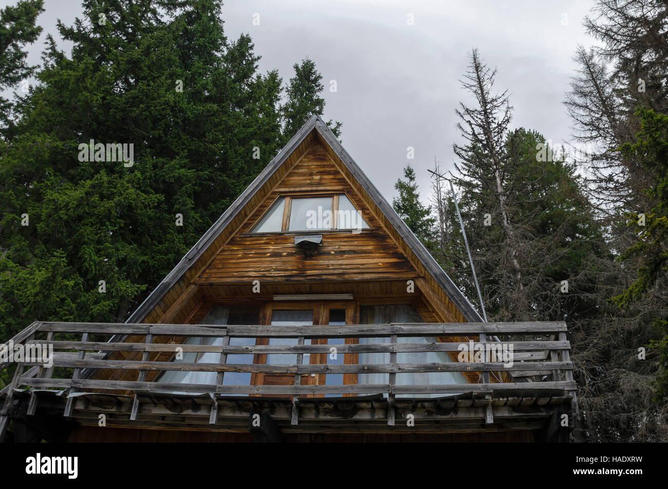 Casa de descanso o cabaña en la montaña Vitosha, Bulgaria Imagen De Stock
