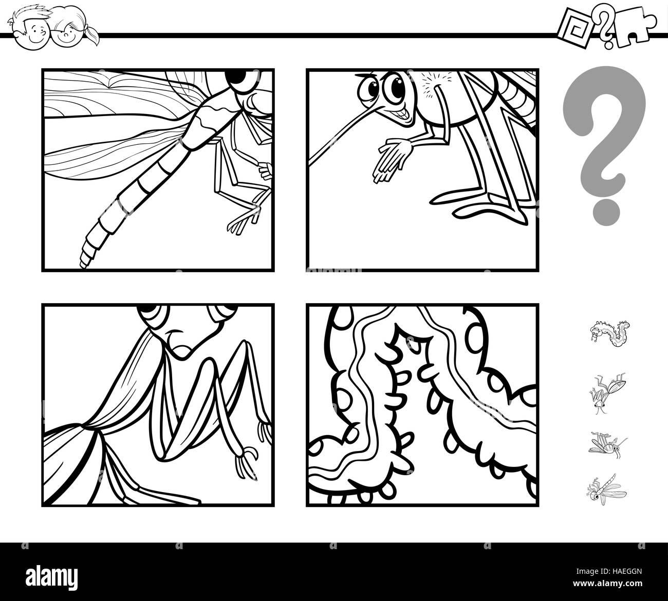 Ilustración Caricatura En Blanco Y Negro De La Actividad Educacional