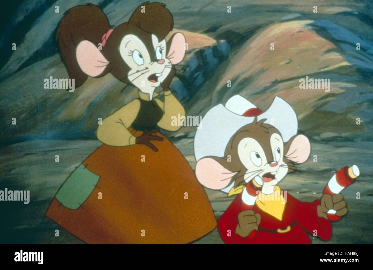 Un American Tail: Fievel Goes West EE.UU. Año: 1991 Director: Phil Nibbelink Simon Wells Animación Imagen De Stock