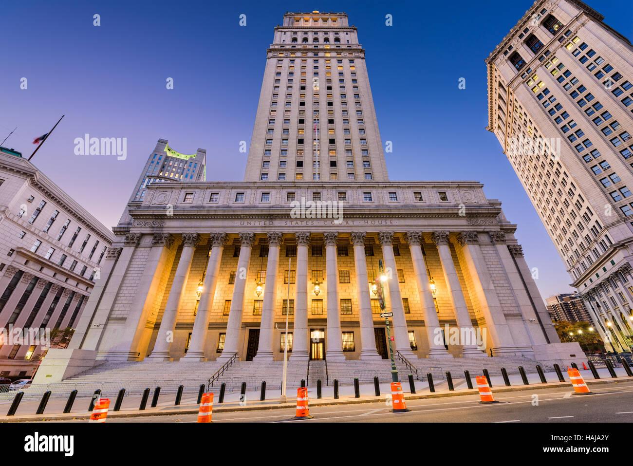 Estados Unidos Court House en el distrito del centro cívico de la ciudad de Nueva York. Imagen De Stock