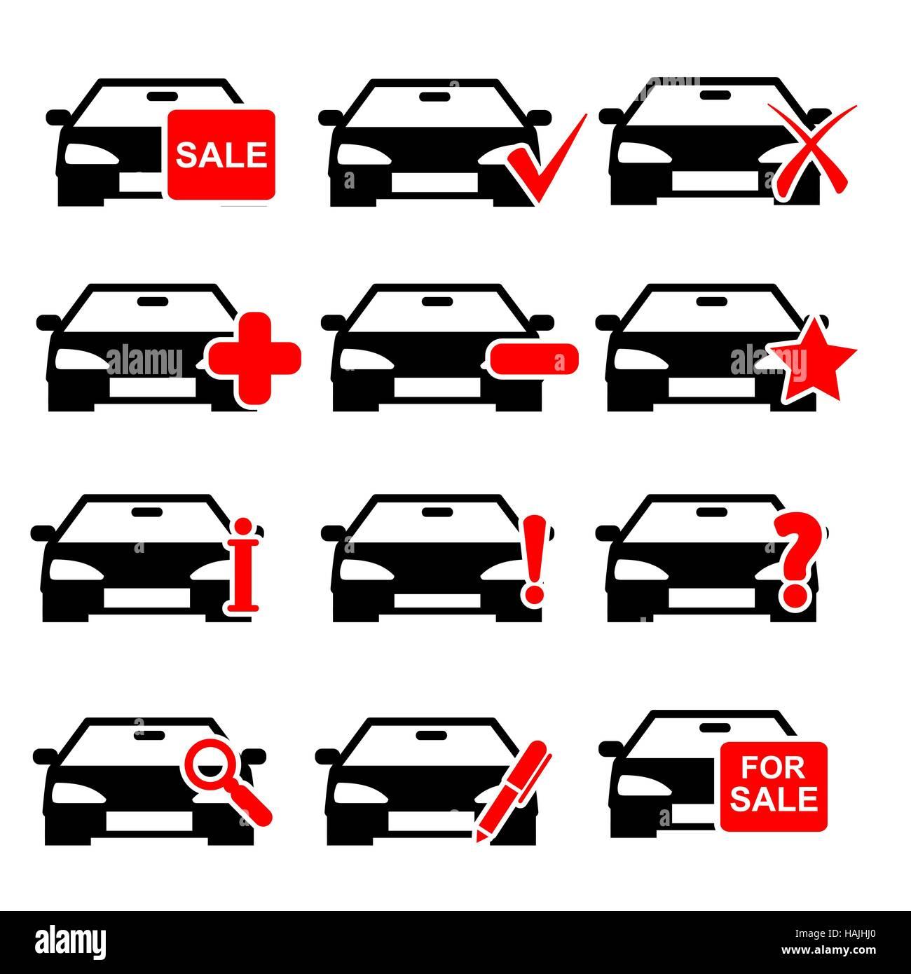 Icono de coche. Ilustración vectorial EPS10. Imagen De Stock