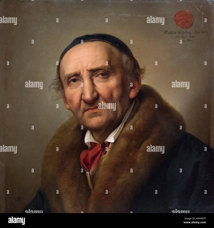 Julius Hübner (1806-1882), Retrato (1832) de Johann Gottfried Schadow (1764-1850). Foto de stock