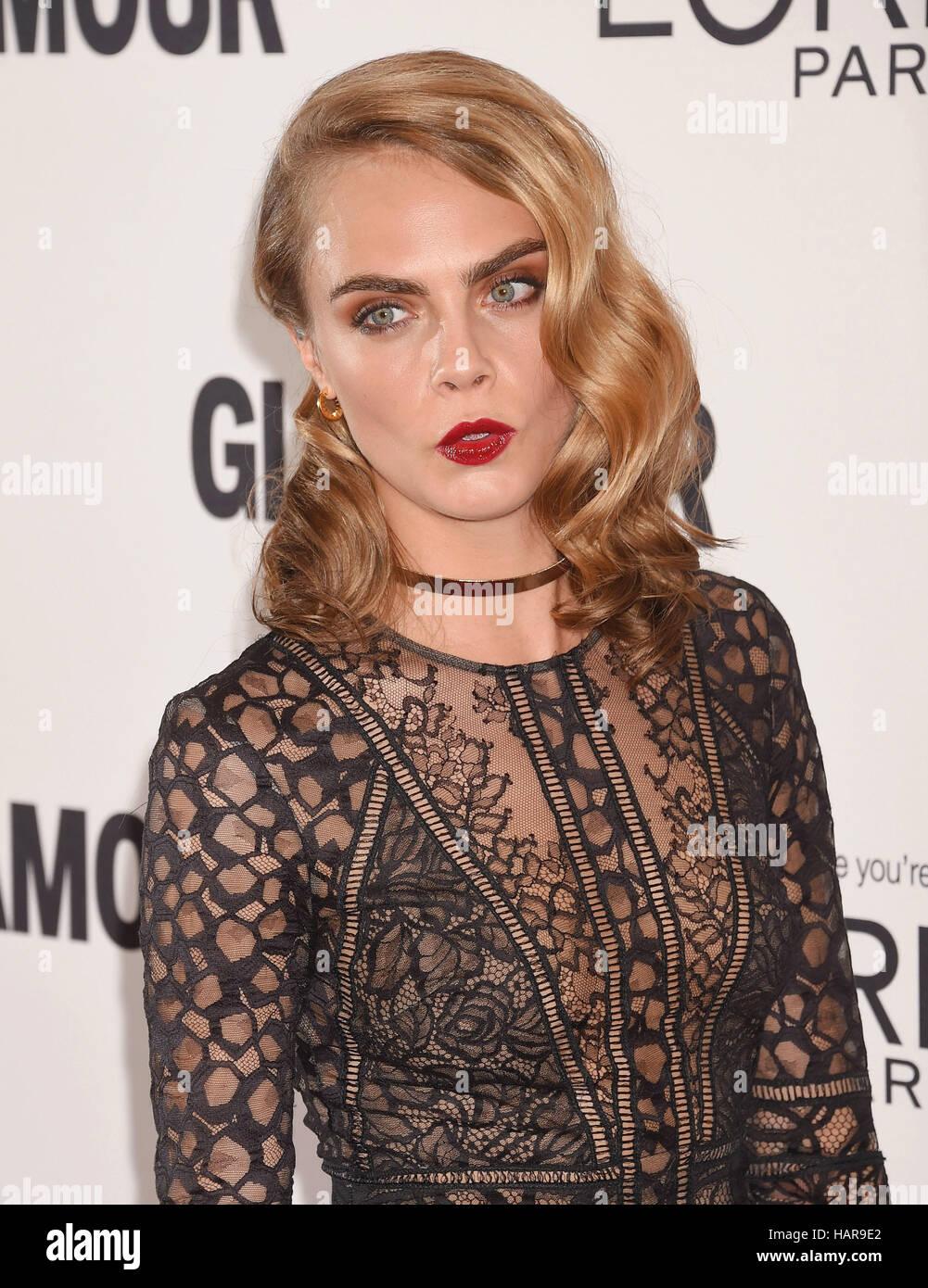 CARA DELEVINGNE English modelo y actriz de cine en noviembre de 2016. Foto Jeffrey Mayer Imagen De Stock