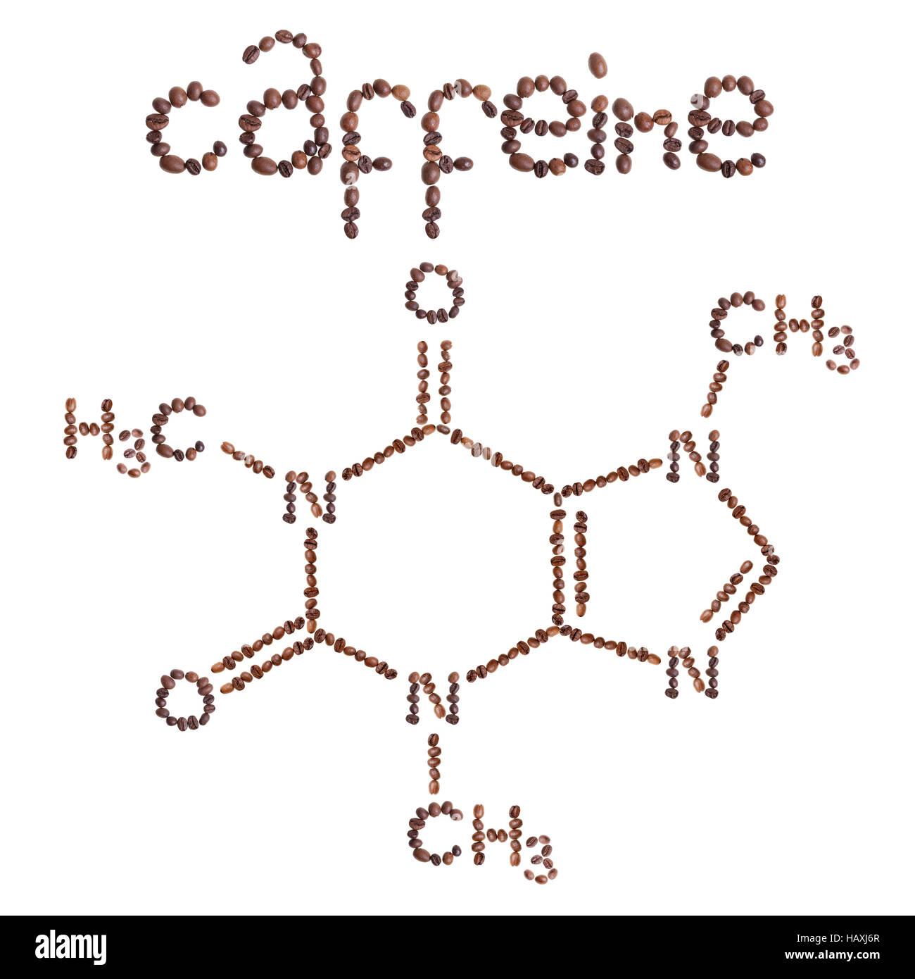 Caffeine Chemical Formula Science Symbol Imgenes De Stock