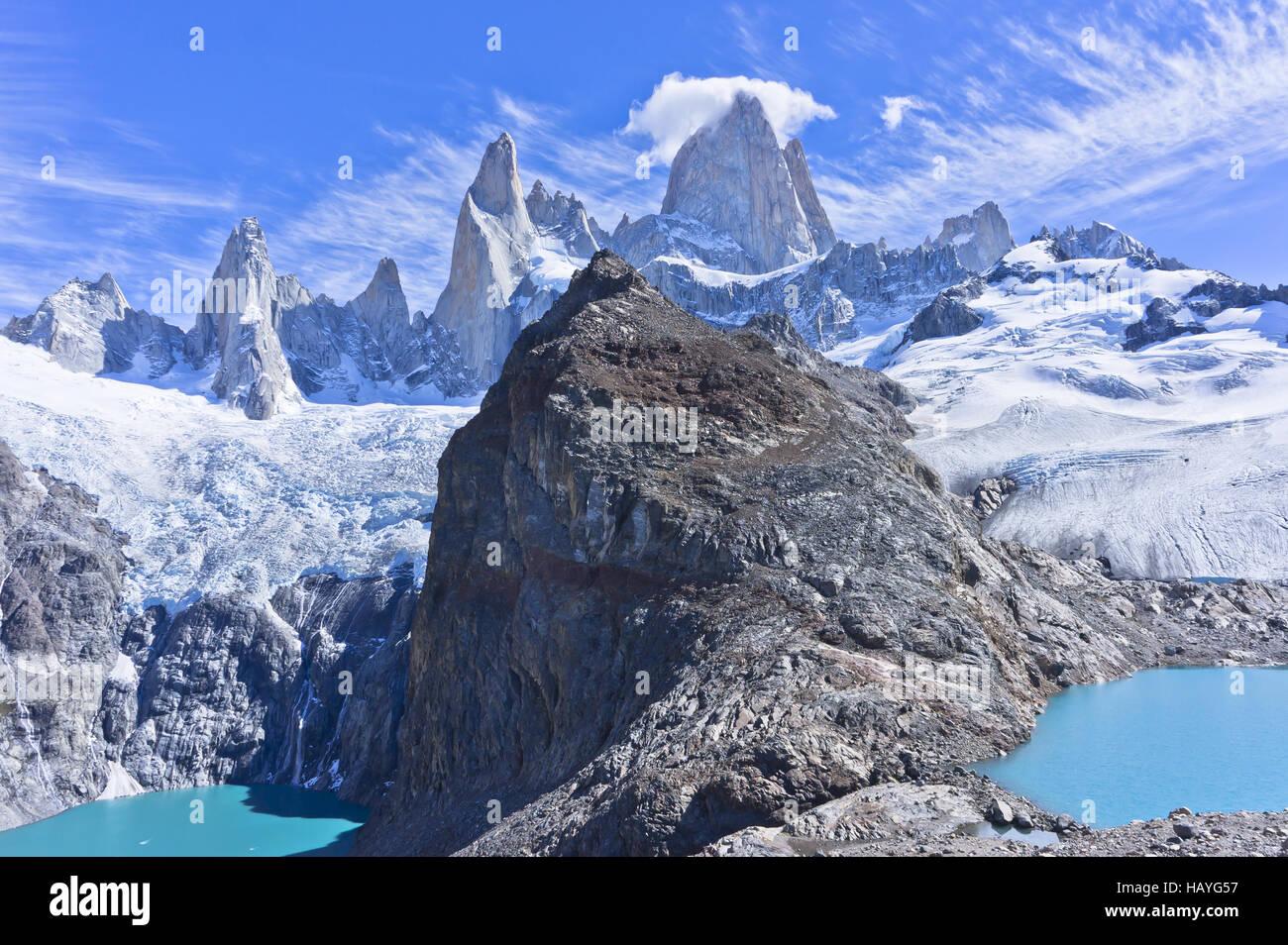 Patagonia, Monte Fitz Roy Foto de stock