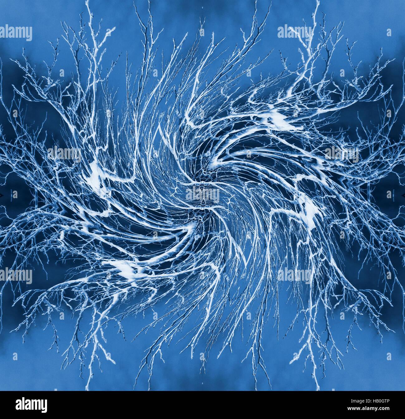 Red neuronal - Resumen ilustración Imagen De Stock