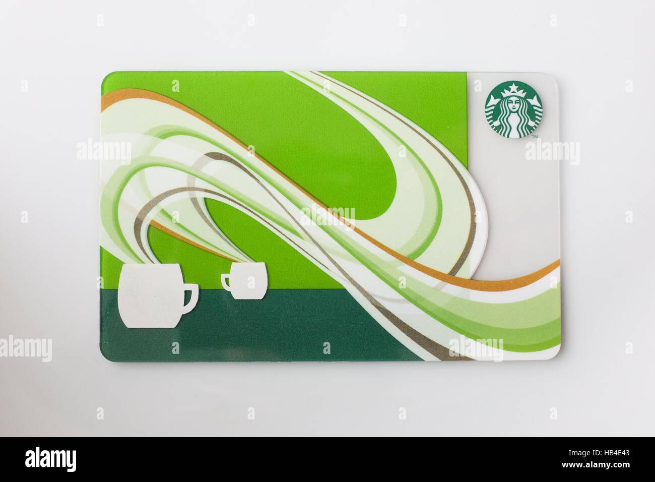 Una tarjeta de regalo de Starbucks publicado en Japón Foto & Imagen ...