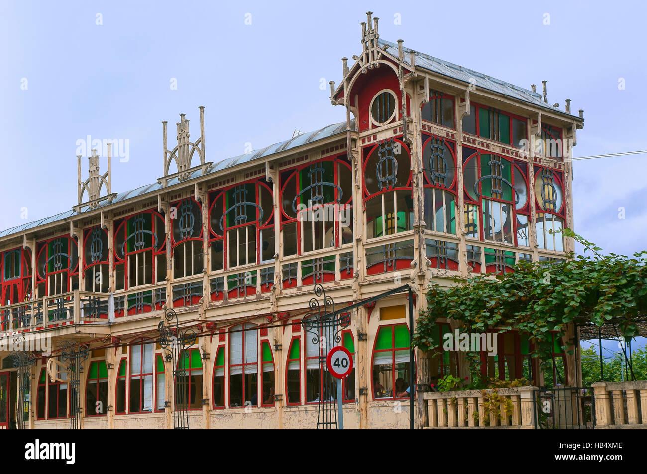Edificio Modernista Kiosco La Terraza Año 1912 Sada