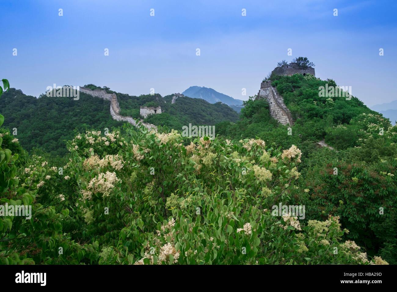 Jiankou Gran Muralla, Xizhazi Village, Condado de Huairou, Beijing, China Imagen De Stock