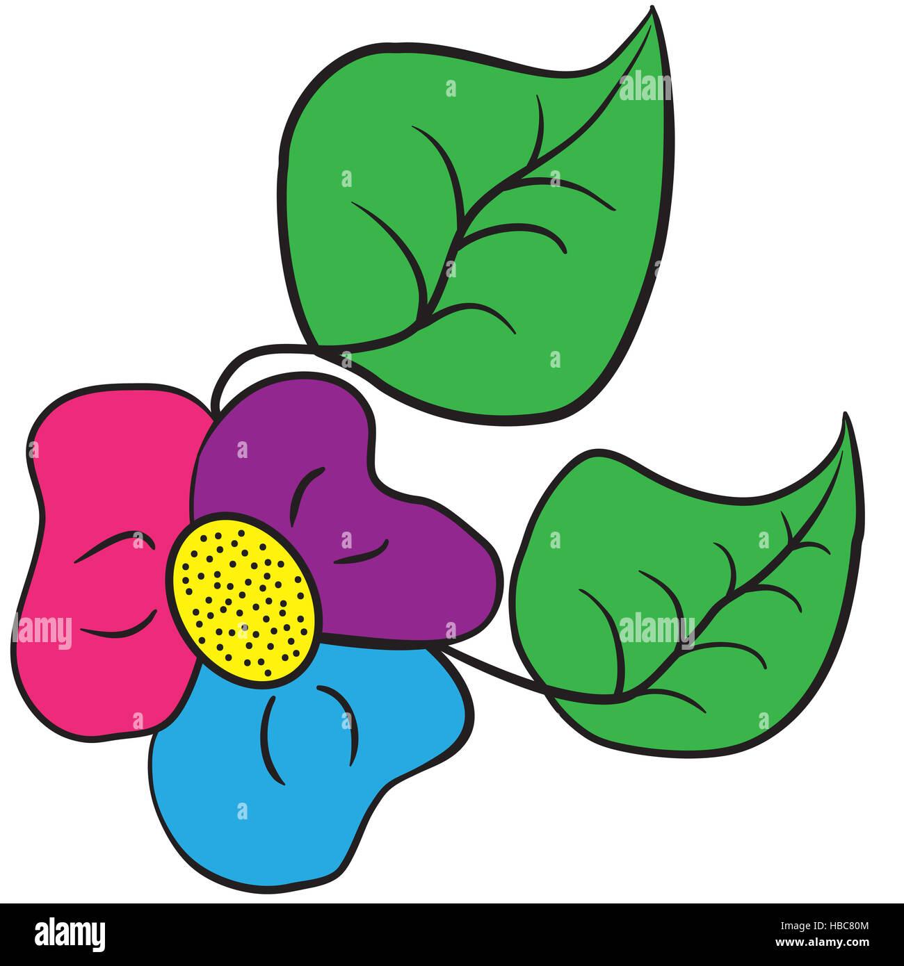El Shamrock tricolor flor Imagen De Stock