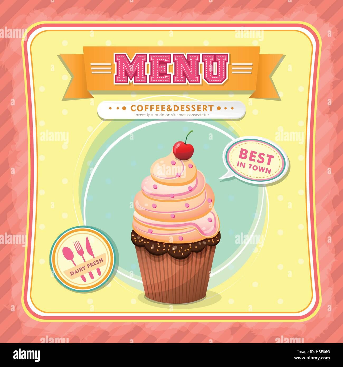 Restaurante helados cubierta menú Plantilla de diseño vectorial ...