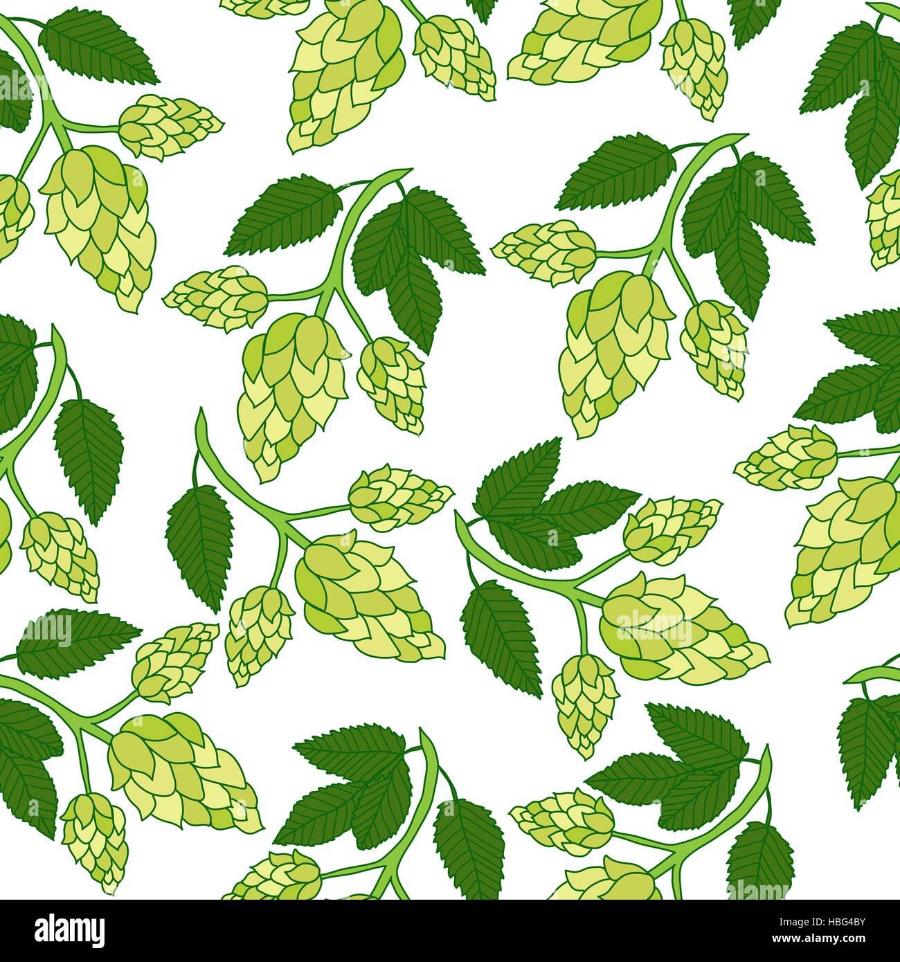 El l pulo planta patr n sin fisuras estilo de dibujo a for Papel tapiz de patron para el pasillo