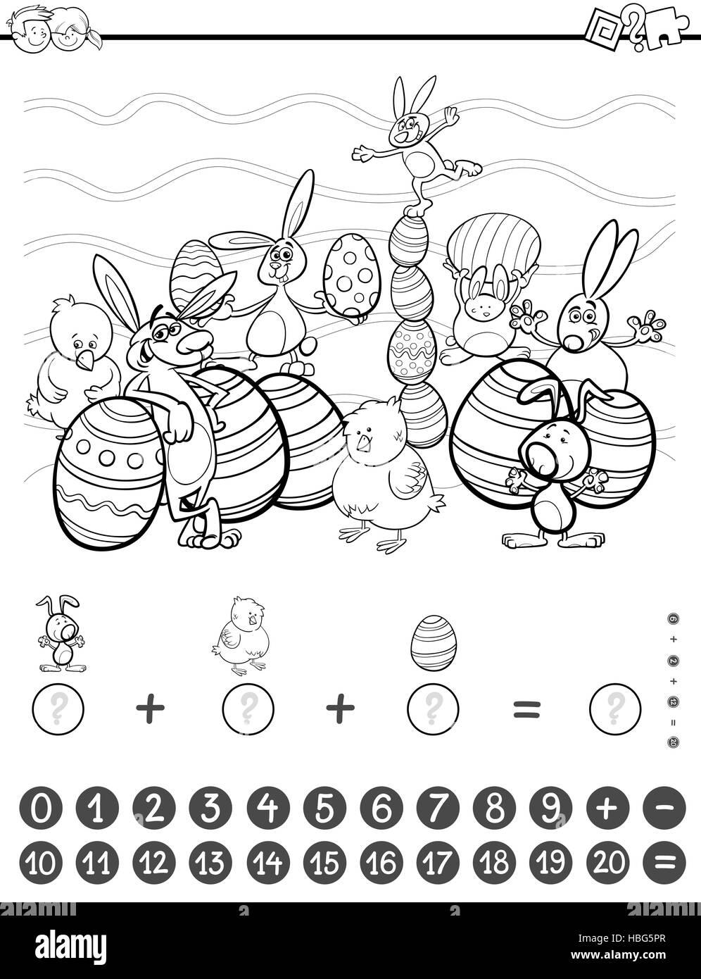 Libro Para Colorear De Tareas De Matemáticas Foto Imagen De Stock