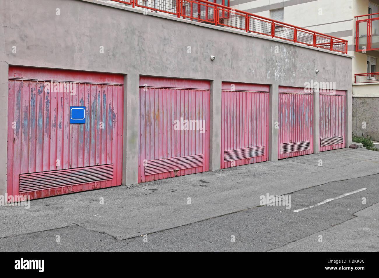Garajes Foto de stock