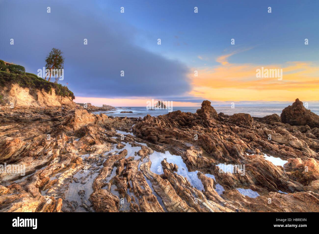 Pequeña Playa Corona en Corona del Mar Foto de stock