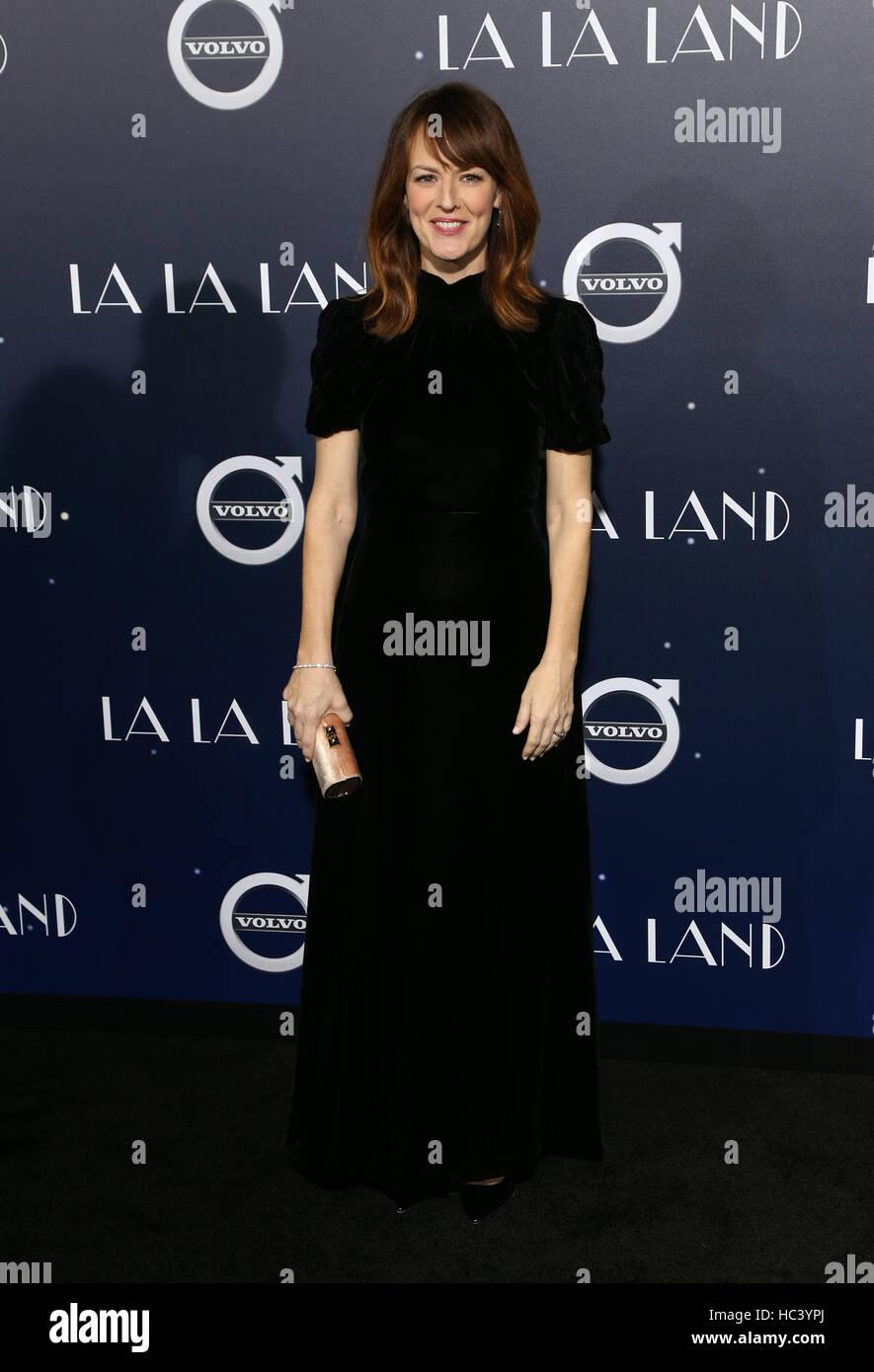 """Westwood, California, USA. 06 dic, 2016. Rosemarie DeWitt, en estreno de Lionsgate """"LA LA LAND"""" en el Imagen De Stock"""