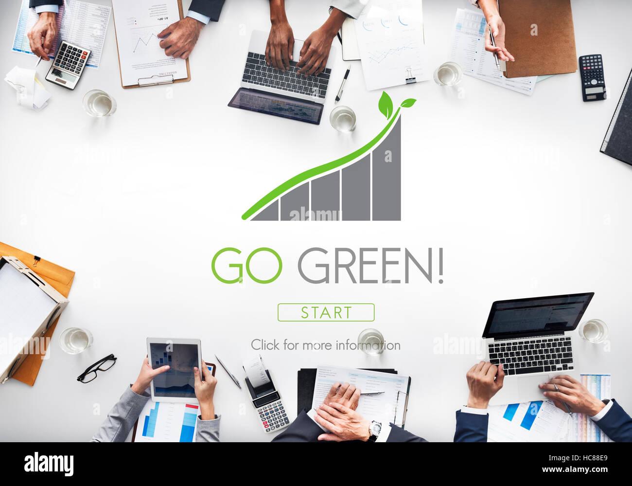 Conservación Ecológica de los recursos naturales concepto Eco Imagen De Stock