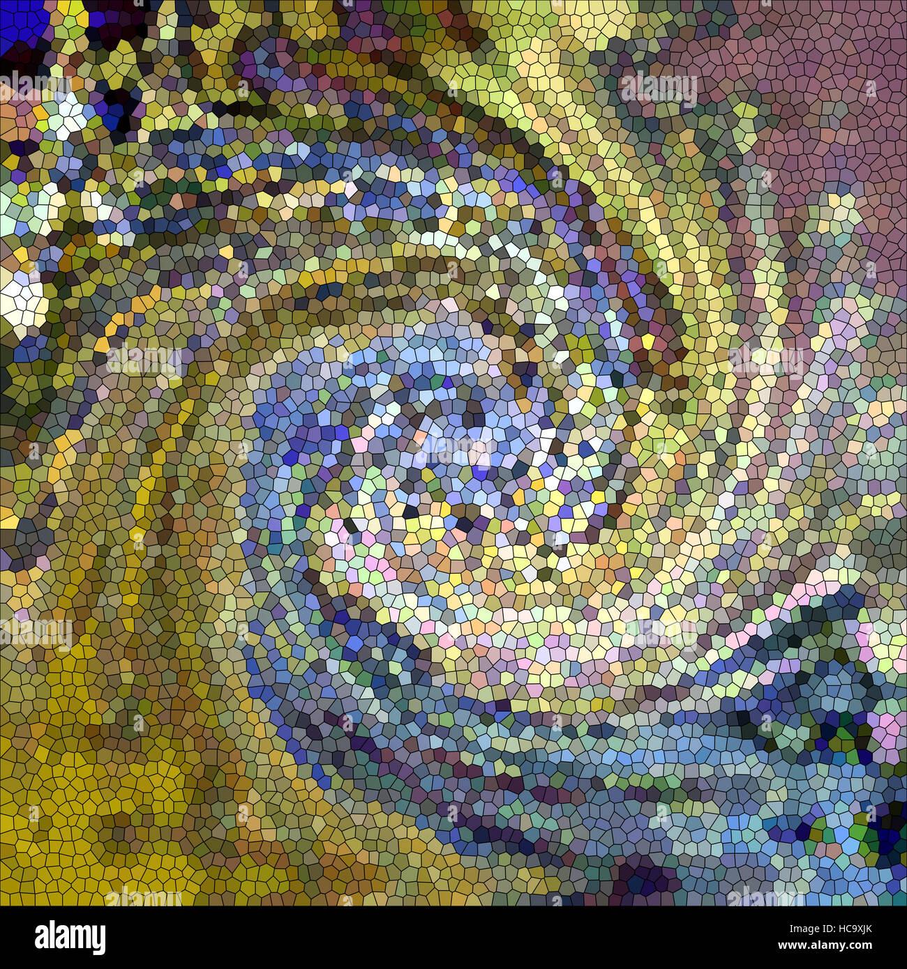 Colorear fondo abstracto del oro degradado con ilusión visual,onda, pellizcar,efectos y vidrieras de torsión Imagen De Stock