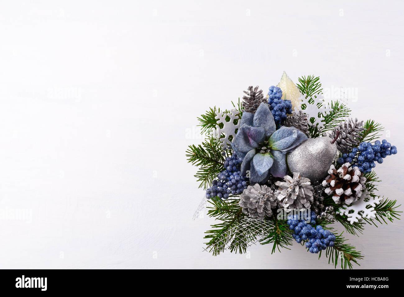 Fondo De Navidad Con Glitter Plateado Y Azul Decoración