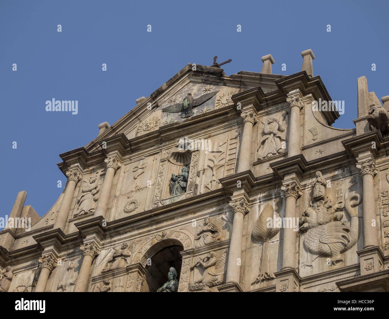 El famoso patrimonio: Ruinas de San Pablo, Macao Imagen De Stock