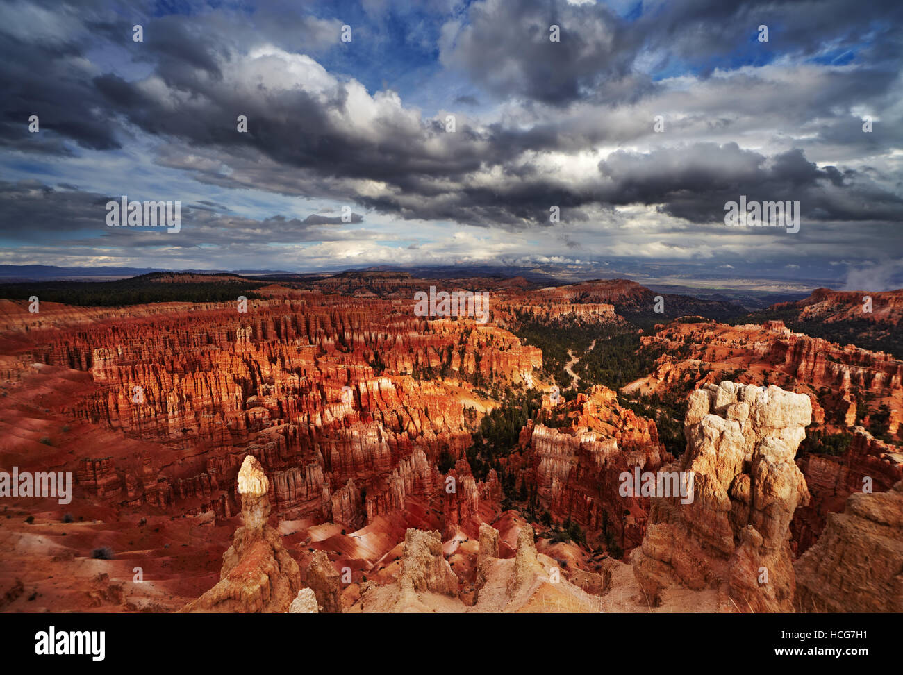 Bryce Canyon, Inspiration Point, Utah, EE.UU. Imagen De Stock
