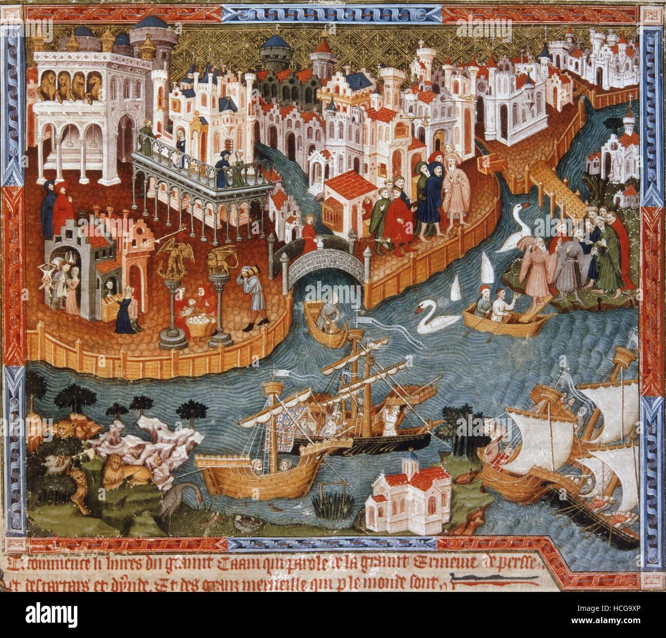 Miniatura del libro de las maravillas de Marco Polo - Vista de ...