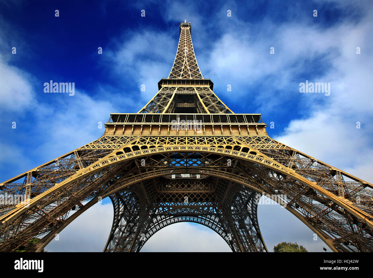 La Torre Eiffel, en París, Francia Imagen De Stock