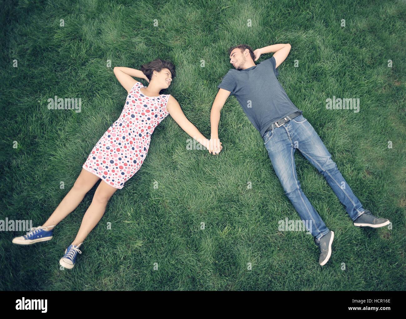 Los adolescentes outdoor Imagen De Stock