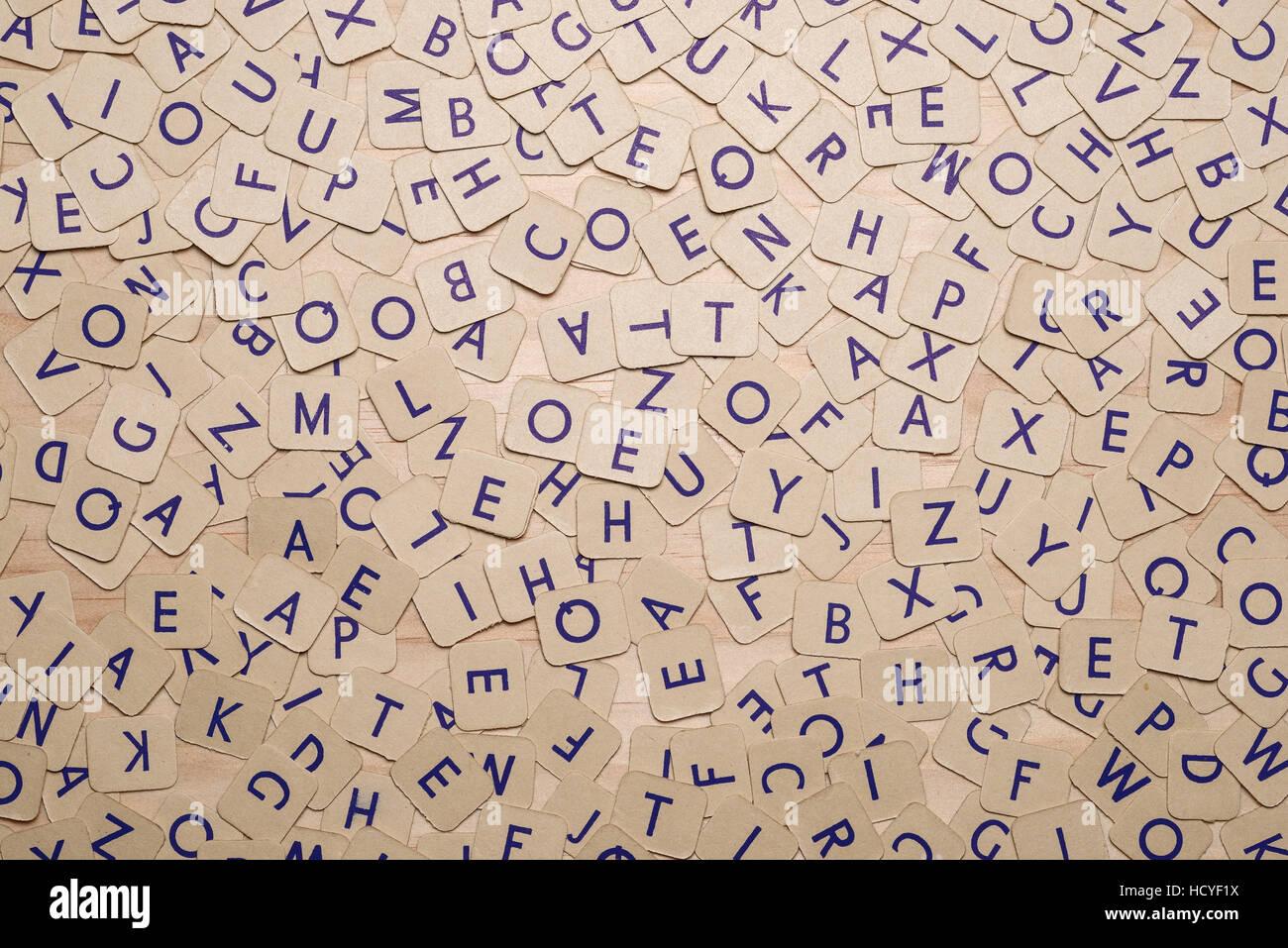 Patrón abstracto de las letras del alfabeto de tarjeta Imagen De Stock