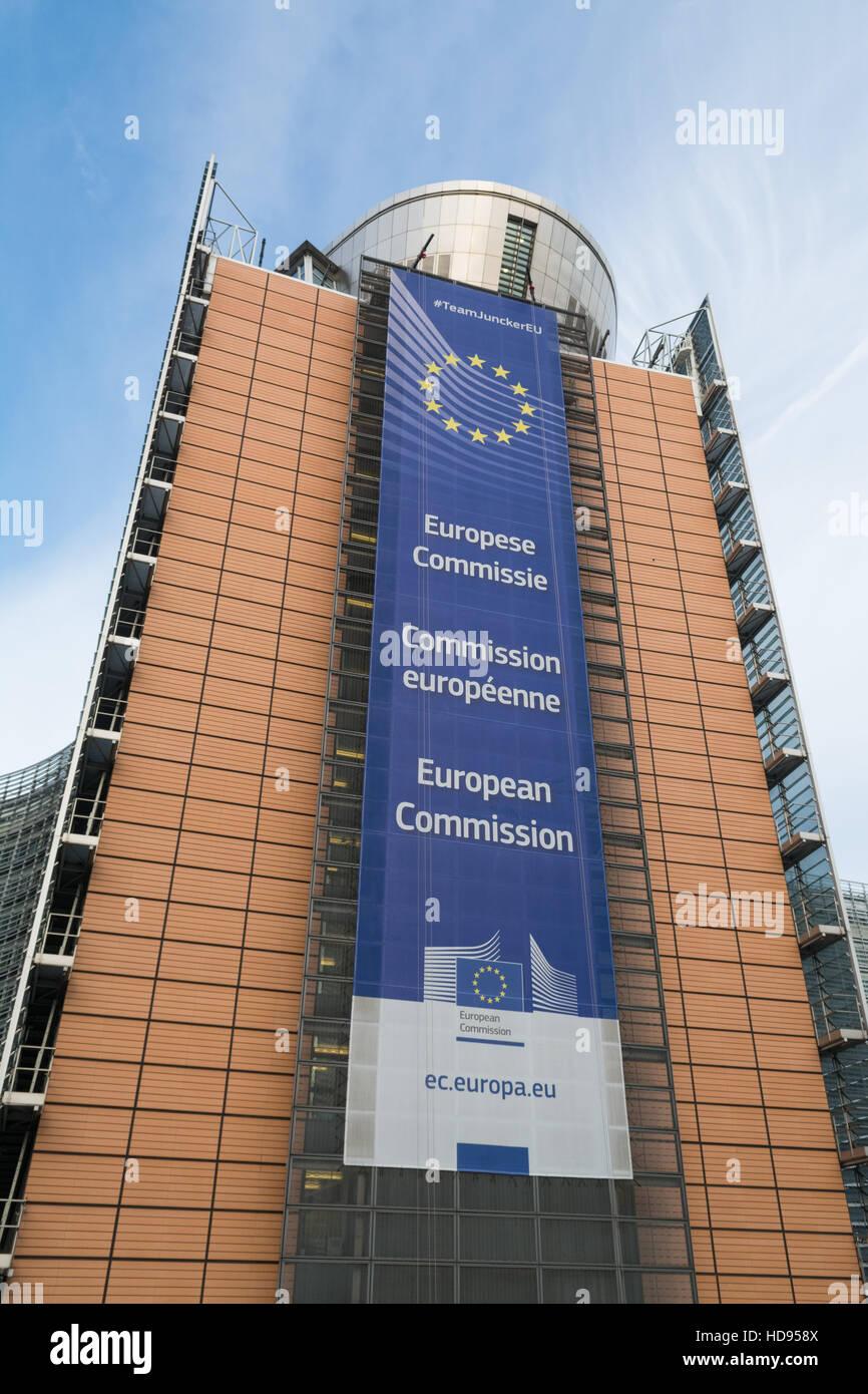 La sede de la Comisión Europea, el edificio Berlaymont de Bruselas, Bélgica Imagen De Stock
