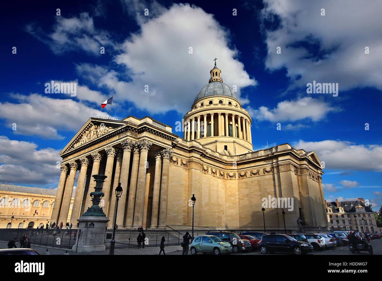 El Panteón, el Barrio Latino, en París, Francia. Imagen De Stock